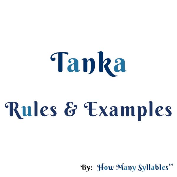 Tanka Rules Examples